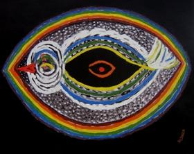 colorful abstract drawing of eye