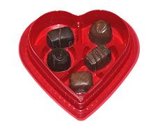 valentines day chocolates in heart shaped box