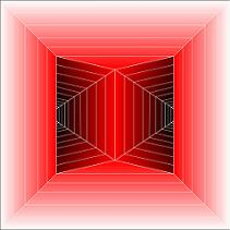 abstract red tunnel